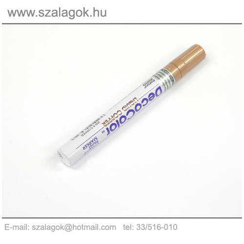 Deco Color lakkfilc 3mm BRONZ