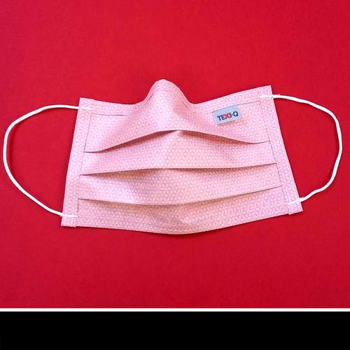 Rózsaszín mintás  textil szájmaszk.