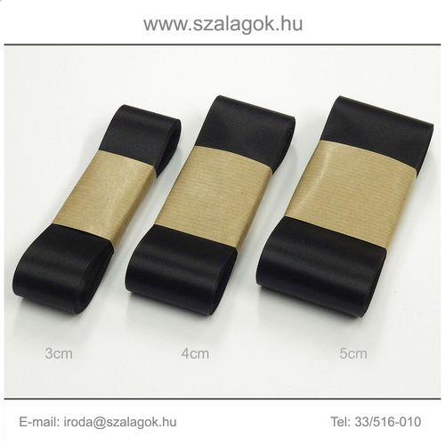 4cm széles szatén szalag 10m  C02-fekete