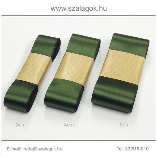 4cm széles szatén szalag 10m C05-olajzöld