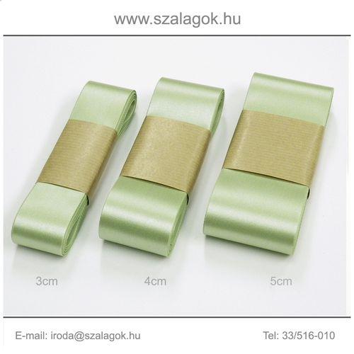 5cm széles szatén szalag 10m C06-borsózöld