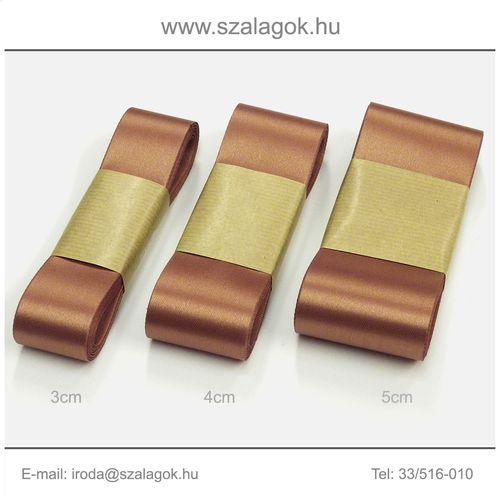 4cm széles szatén szalag 10m C08-bronz