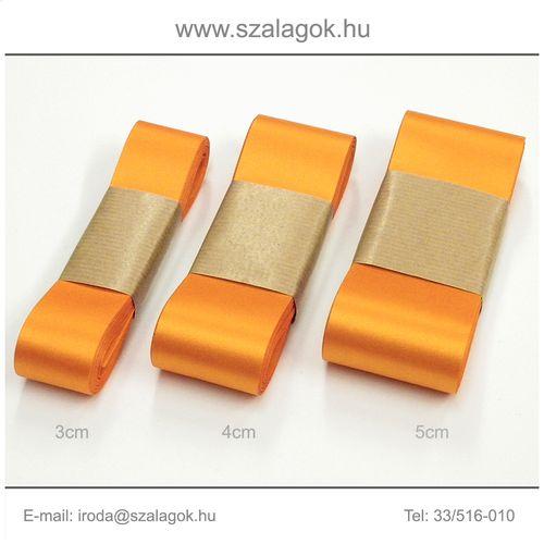 4cm széles szatén szalag 10m C09-narancs