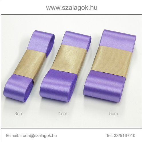 4cm széles szatén szalag 10m C10-lila