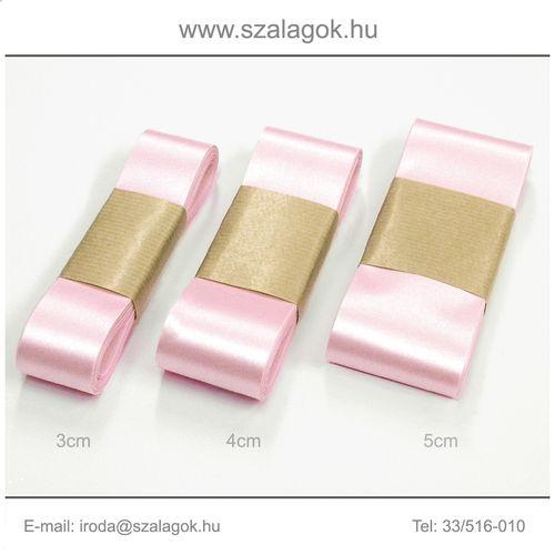 5cm széles szatén szalag 10m C11-pink
