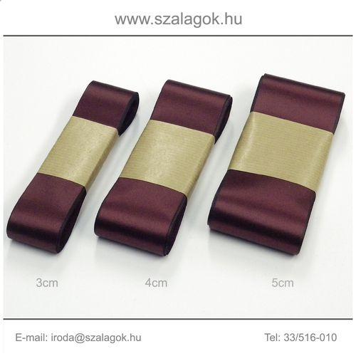 4cm széles szatén szalag 10m C13-bordó