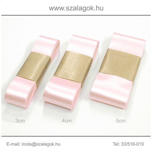 4cm széles szatén szalag 10m C14-baba rózsaszín