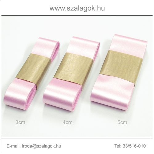 4cm széles szatén szalag 10m C14B-rózsaszín