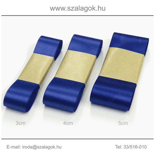 4cm széles szatén szalag 10m C15-királykék