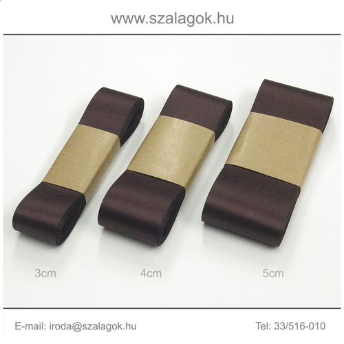 4cm széles szatén szalag 10m C16-sötétbordó