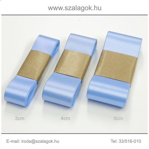 3cm széles szatén szalag 10m C19-világoskék