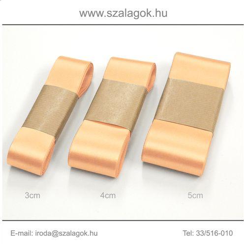 5cm széles szatén szalag 10m C21-barack