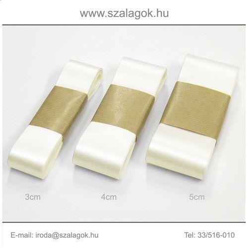 3cm széles szatén szalag 10m C23-ekrü
