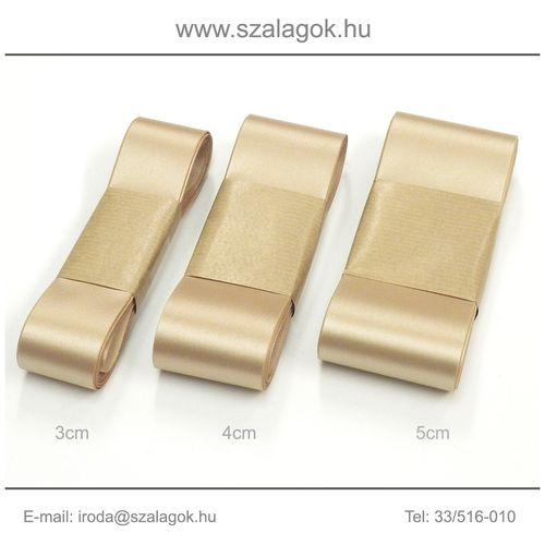 4cm széles szatén szalag 10m C25-mogyoró