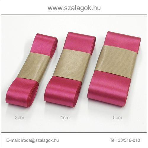 3cm széles szatén szalag 10m C28-magenta