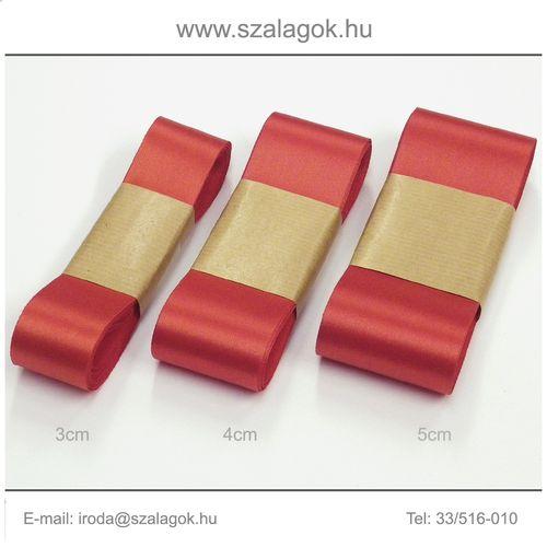 4cm széles szatén szalag 10m C29-mikuláspiros