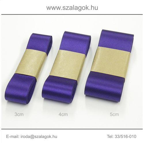 3cm széles szatén szalag 10m C32-írisz-lila