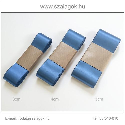 3cm széles szatén szalag 10m C36-kék