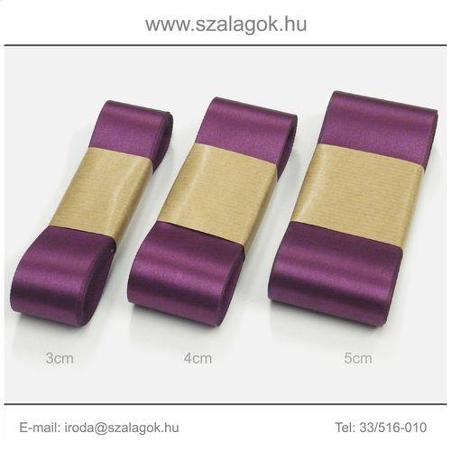 4cm széles szatén szalag 10m C40-bíbor