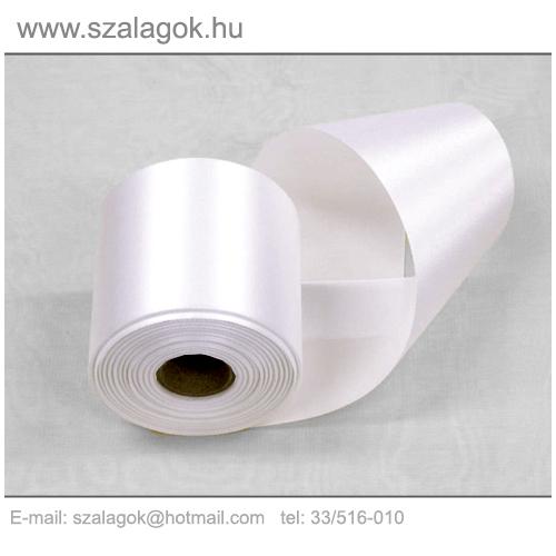 7cm széles szatén szalag 25m C01-fehér 2044caec43