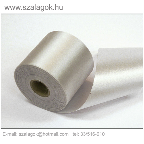 7cm széles szatén szalag 25m C03-ezüst