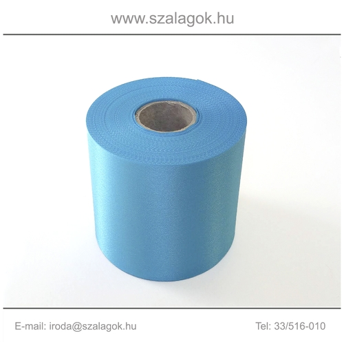 25cm széles szatén szalag 25m C26-türkizkék