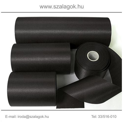 10cm széles szatén szalag 25m  C02-fekete
