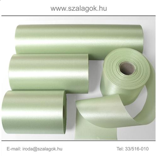 10cm széles szatén szalag 25m C06-borsózöld