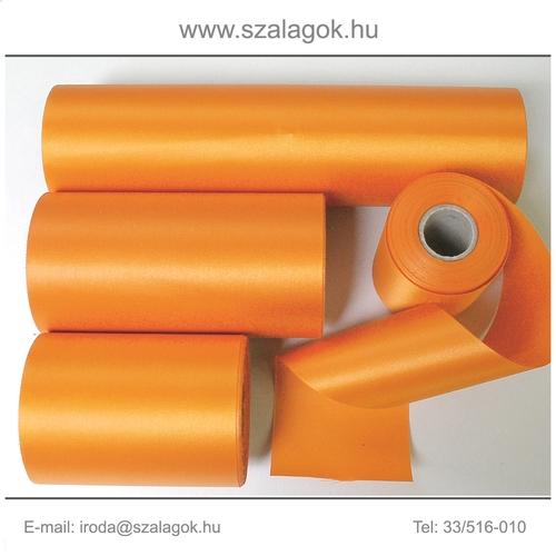 10cm széles szatén szalag 25m C09-narancs