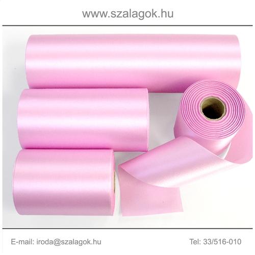10cm széles szatén szalag 25m C11-pink