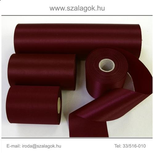 10cm széles szatén szalag 25m C13-bordó