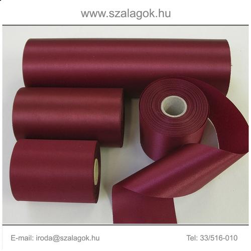 7cm széles szatén szalag 25m C13B-világos bordó