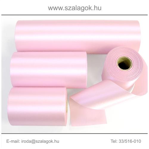 10cm széles szatén szalag 25m C14-baba rózsaszín