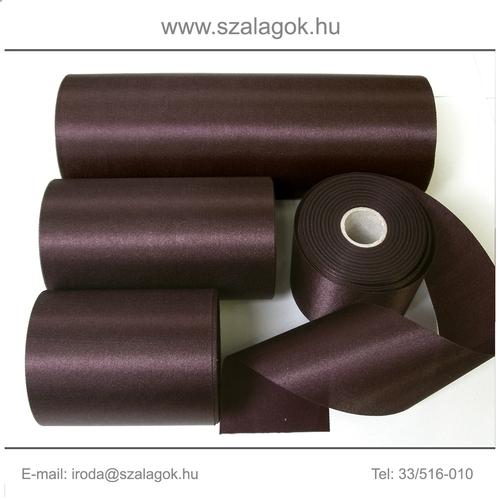10cm széles szatén szalag 25m C16-sötétbordó