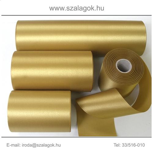14cm széles szatén szalag 25m C20-arany