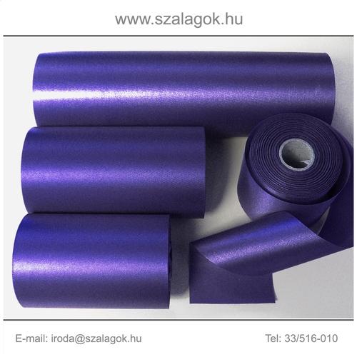 10cm széles szatén szalag 25m C32-írisz-lila