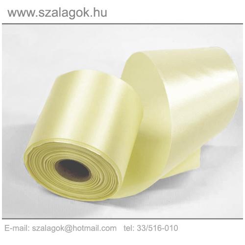 10cm széles szatén szalag 25m C23-ekrü