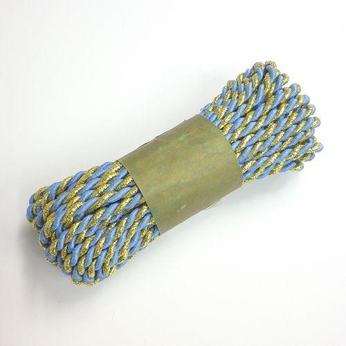 Arany-világoskék 2 ágú sodrott zsinór 5mm