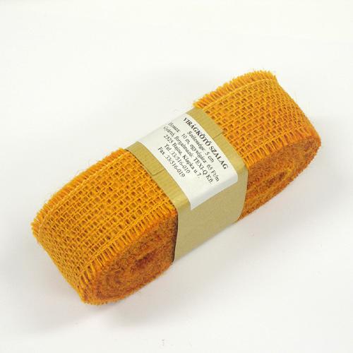 5cm széles juta-zsák szalag JC-18 narancs