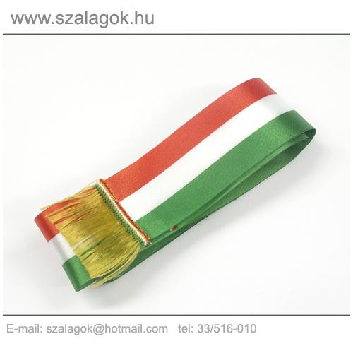 5 X 150cm-es nemzeti szalag, arany rojtos - 5db/cs