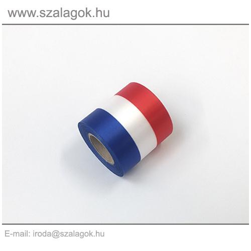 5cm-es Francia nemzeti szalag 10m / tekercs