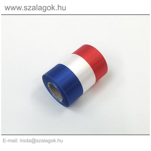 7cm-es Francia nemzeti szalag 10m / tekercs
