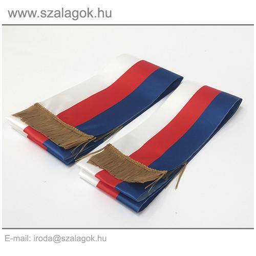 12 X 200cm-es Cseh szalag, arany rojtos - 2db/cs