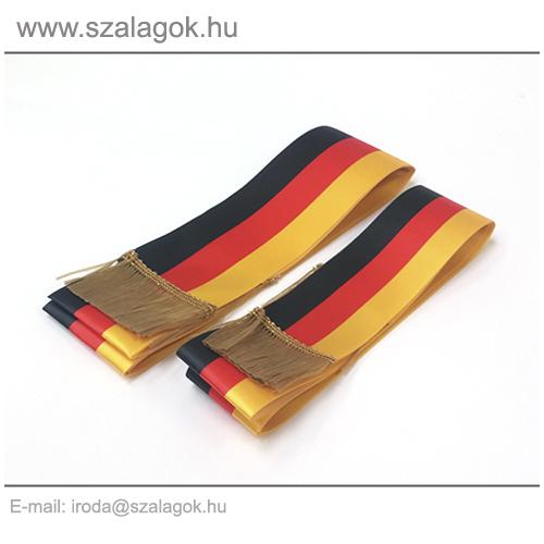5 X 150cm-es Német szalag, arany rojtos - 2db/cs