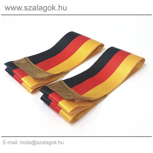 12 X 200cm-es Német szalag, arany rojtos - 2db/cs