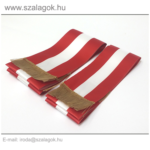 12 X 200cm-es Osztrák szalag, arany rojtos - 2db/cs