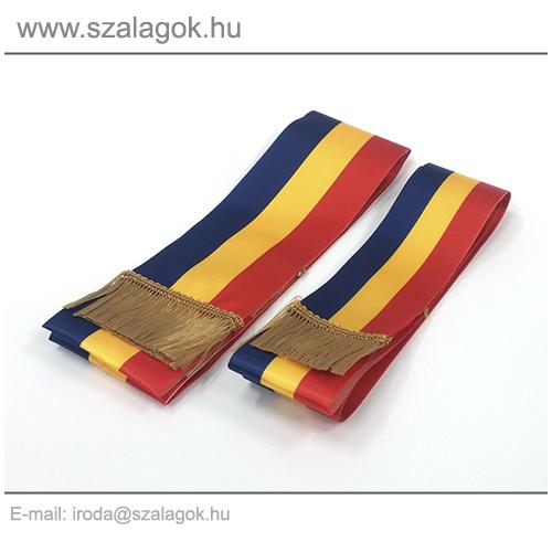 7 X 170cm-es Román szalag, arany rojtos - 2db/cs